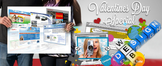 Webdesign for Valentine